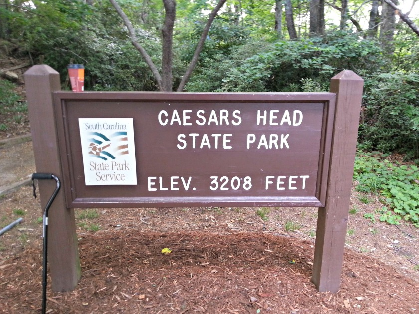 Sign at Ceasars Head State Park in South Carolina